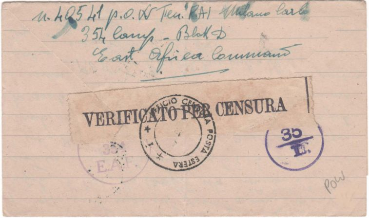 I prigionieri italiani in Kenya durante la Seconda Guerra Mondiale