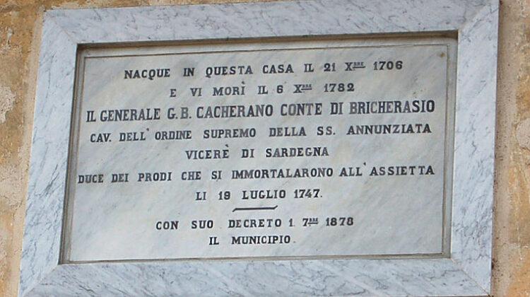 Generale G.B. Cacherano Conte Bricherasio